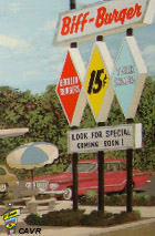 Biff-Burger Drive-In Road Sign